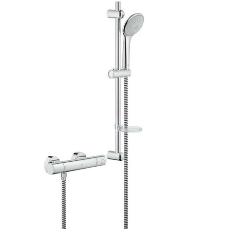 GROHE Grohtherm 1000 Cosmopolitan Thermostatic Slide Rail Shower Mixer and Kit