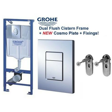 """main image of """"GROHE 38528 Rapid SL 3 in 1 WC Set 1.13m Concealed Frame Cistern Plate 38772001"""""""
