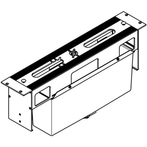 Grohe 4 / 5 hole bathtub combination Substructure for tile bench installation - 29037000