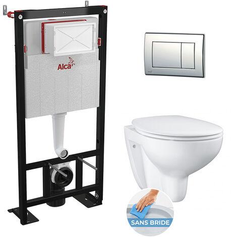 Grohe / Alcaplast Set WC suspendu Bau Ceramic sans bride tout en un (Alcagrohe1)