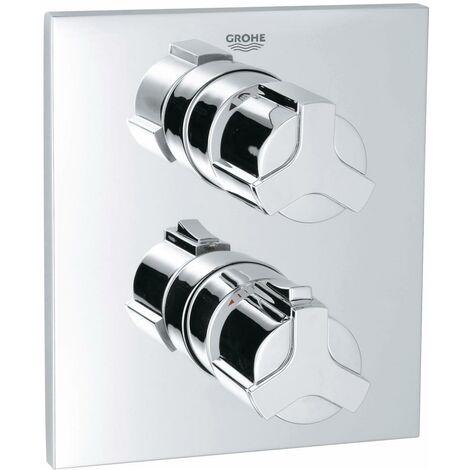 Grohe Allure Façade pour mitigeur thermostatique 2 sorties pour bain-douche