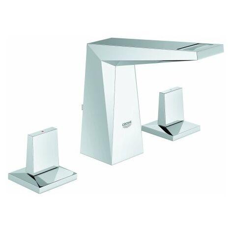 Grohe Allure Mezclador brillante para lavabo de 3 agujeros, con caño plano - 20342000