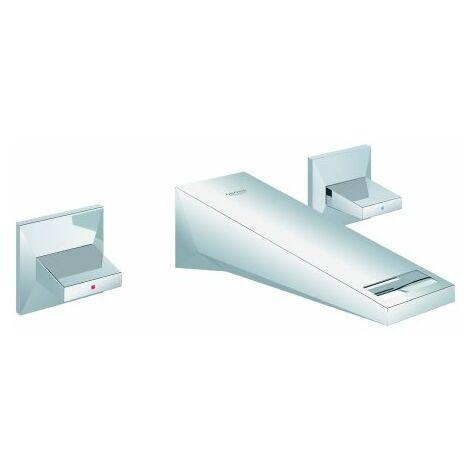Grohe Allure Mezclador de lavabo de pared de 3 agujeros brillante, proyección 161mm - 20346000