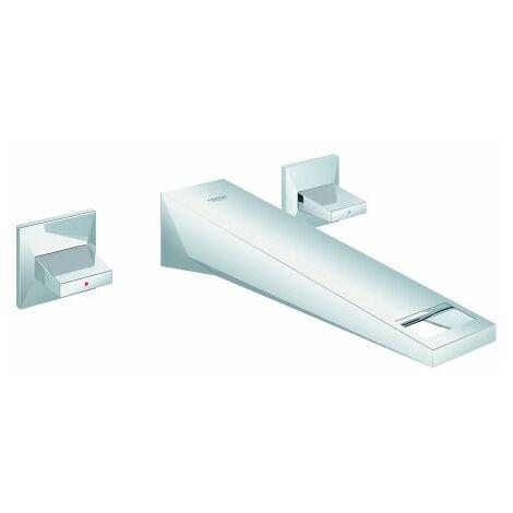 Grohe Allure Mezclador de lavabo de pared de 3 agujeros brillante, proyección 210mm - 20348000