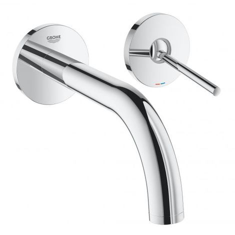 Grohe Atrio 2-hole basin mixer, wall mounted, Projection 185mm