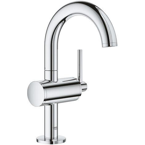 "Grohe Atrio Mitigeur monocommande, 1/2"" pour lavabo Taille M, Hard Graphite brossé (32043003)"