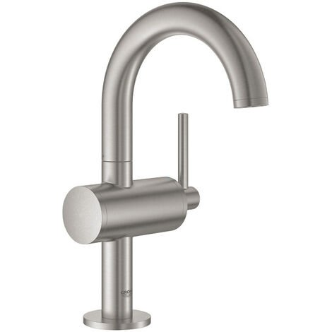 Grohe Atrio Mitigeur monocommande Lavabo Taille M, Supersteel (32043DC3)