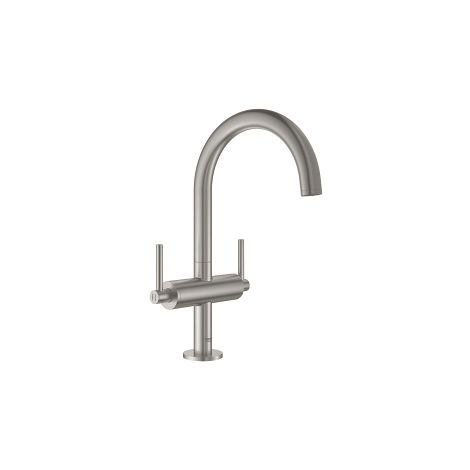 """Grohe Atrio Robinetterie monotrou, 1/2"""" Taille L, Supersteel (21022DC3)"""