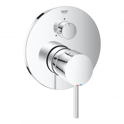 Grohe Atrio single lever mixer with 3-way diverter, 3 consumers, shower or bath