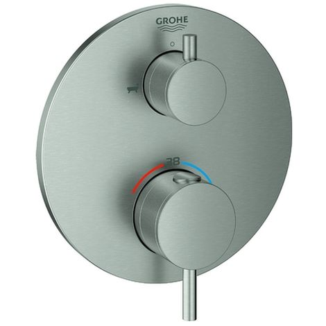 Grohe Atrio Thermostat-Wannenbatterie mit integrierter 2-Wege-Umstellung, 2 Verbraucher