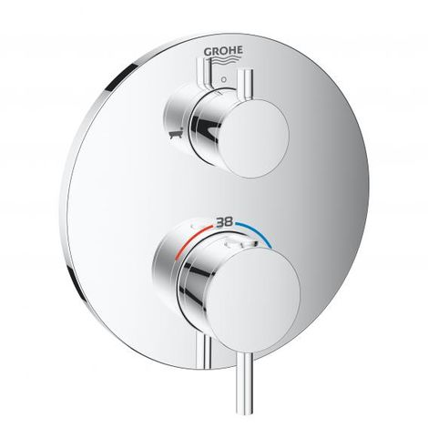 Grohe Atrio thermostatic bath mixer with integrated 2-way diverter, 2 consumers