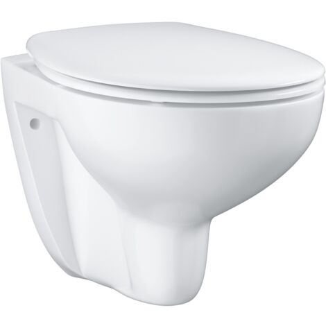Grohe Bau Ceramic WC suspendu sans bride, blanc alpin (39351000)