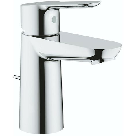 Grohe BauEdge basin mixer tap with pop up waste