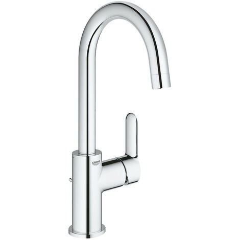 Grohe BauEdge Chrome Swivel Spout Single Lever Basin Sink Mixer Tap 23760000