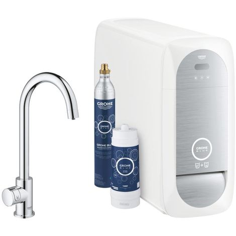 Grohe Blue Home Mono C-spout Starter Kit 31498 Mono tap with filter function, with radiator and WIFI