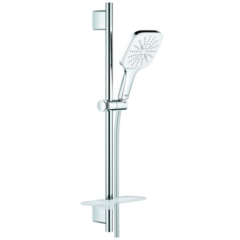 GROHE Brausest.-Set RSH 130 SmartActive Cube 26584 600mm Ablage moon white/chrom, 26584LS0