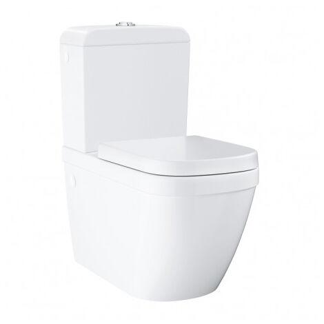 Grohe Ceramic Pack WC à poser Triple Vortex + Réservoir de chasse + Abattant déclipsable, Blanc Alpin (39462Classic1)