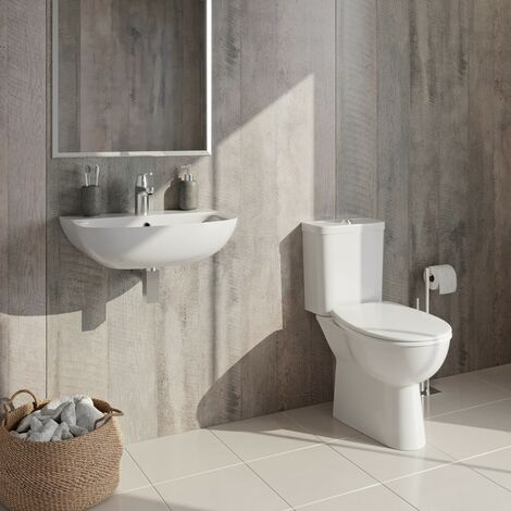 Grohe complete cloakroom suite with taps and waste 450mm