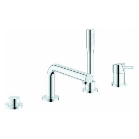 Grohe Concetto baignoire à une main 4 trous, baignoire à inversion automatique, avec douchette à main, baignoire/douchette à inversion automatique - 19576002