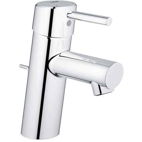 Grohe CONCETTO Basin Mixer Tap, 1/2 Inch S-Size, with Pop Up Waste, Chrome