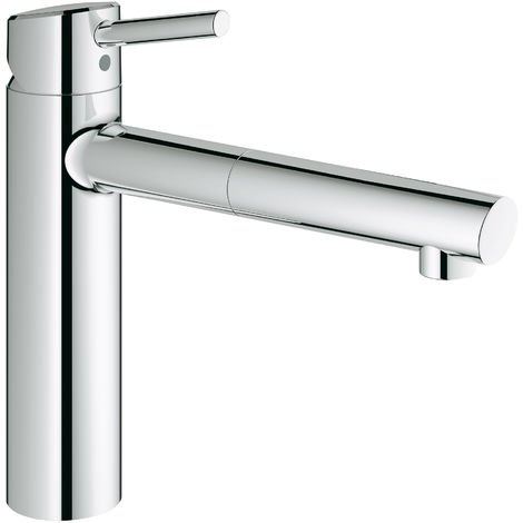 Grohe Concetto one-hand sink mixer medium-high spout, pull-out mousseur spout