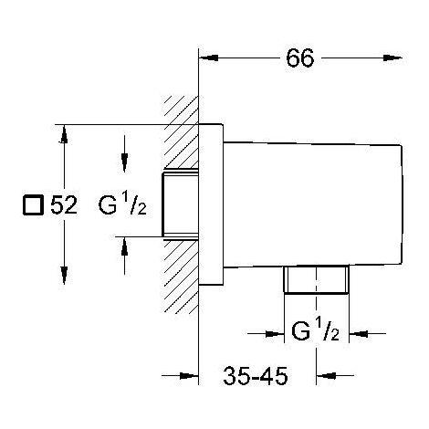 """Grohe Coude à Encastrer Euphoria Cube 1-2"""""""