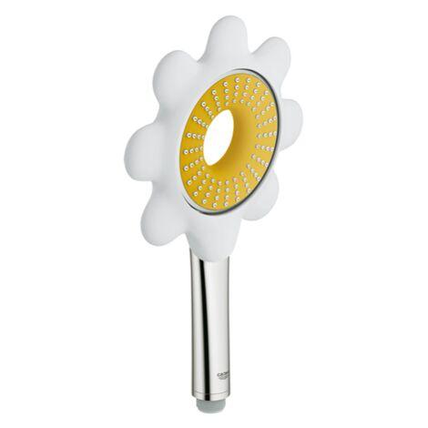 Grohe Douchette à Main 1 Jet Rainshower Icon blanc - jaune