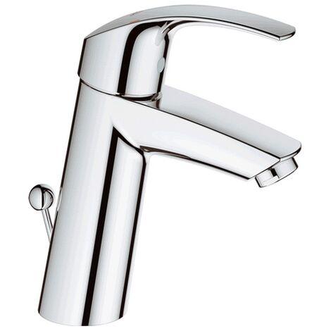 Grohe Einhand-Waschtischarmatur Eurosmart 23322 mittelhoch Zugst.-Ablaufgrt. chrom, 23322001