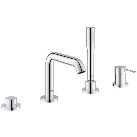 Grohe Essence Combinación de bañera monomando de 4 orificios DN 15, con ducha manual, color: cromado - 19578001