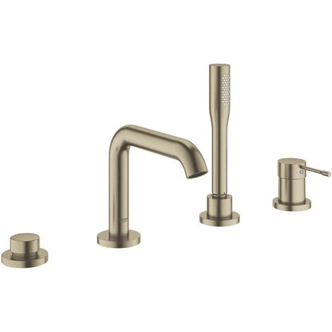 Grohe Essence Four-hole single-lever bath combination, Brushed Nickel (19578EN1)