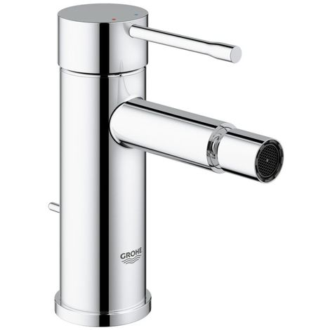 Grohe ESSENCE New Bidet Mixer Tap, 1/2 Inch S-Size, with Pop Up Waste, Chrome