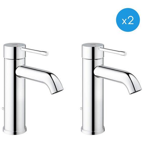Grohe Essence New - Lot de 2 mitigeur de lavabo chrome (23589001-DUO)