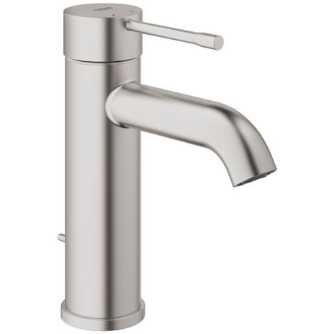 """Grohe ESSENCE NEW - Mitigeur monocommande, 1/2"""" pour lavabo Taille S SuperSteel (23589DC1)"""