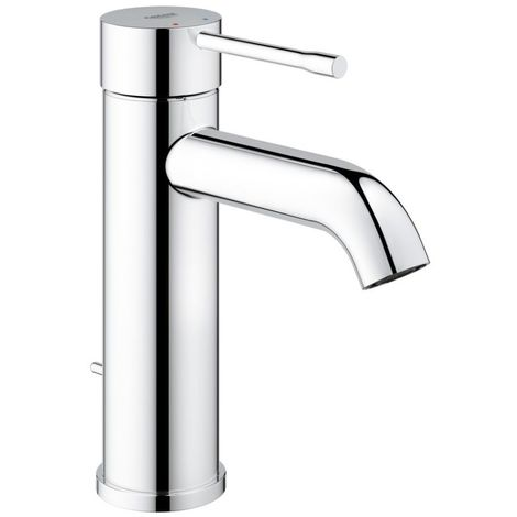 Grohe Essence Single lever basin mixer, S-size, single-hole mounting, with waste fitting