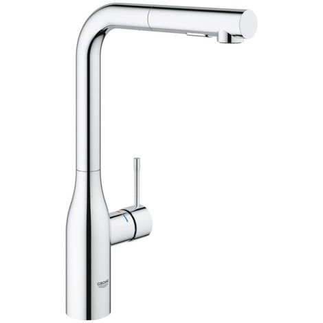 "Grohe ESSENCE SINGLE-LEVER SINK MIXER 1/2"" PULL-OUT DUAL SPRAY CONTROL (30270000)"