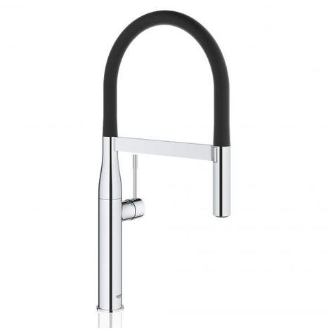Grohe Essence single lever sink mixer, DN 15, Santoprene hose, SpeedClean professional spray