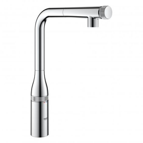 Grohe Essence SmartControl mezclador de fregadero con SmartControl, spray de enjuague con chorro laminar, color: súper acero - 31615DC0