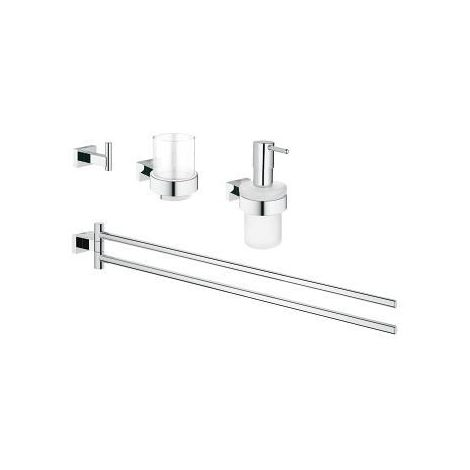 Grohe Essentials Cube 4-in-1 Bathroom accessories set
