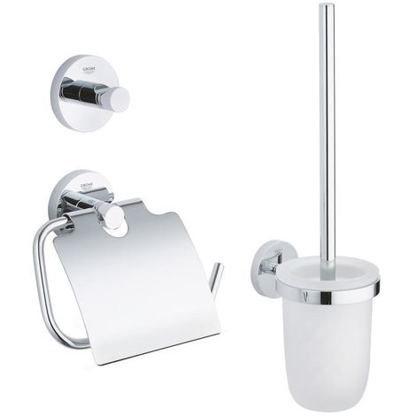 Grohe Essentials Set d'accessoires 3 en 1, chrome (40407001)