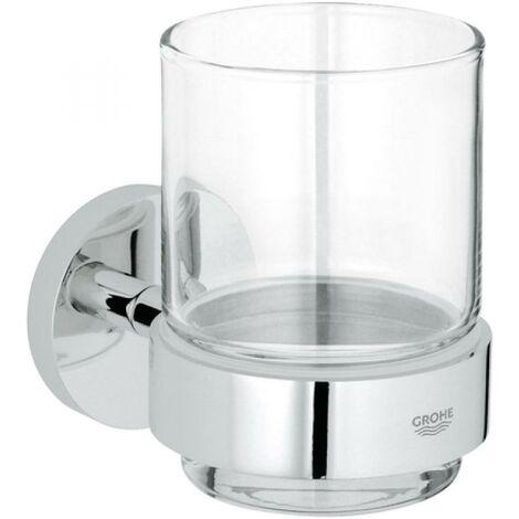 Grohe Essentials support avec verre en cristal - 40447001