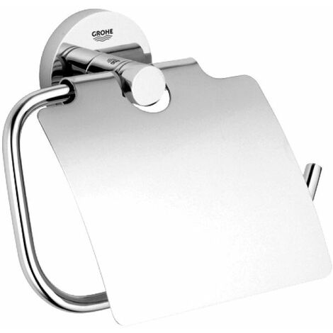"""main image of """"Grohe Essentials Toilet Roll Holder with Cover"""""""