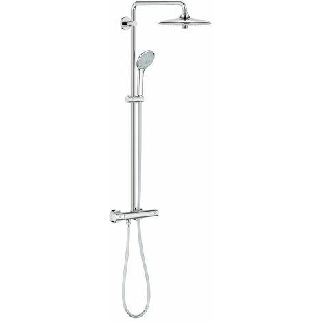 Grohe Euphoria 260 - Sistema de ducha con termostato, alcachofa de 260mm con treschorros y teleducha de 110mm (Ref. 27296002)