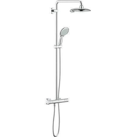 Grohe EUPHORIA POWER&SOUL SYSTEM 190 - Système de douche avec thermostatique mural (26186000)