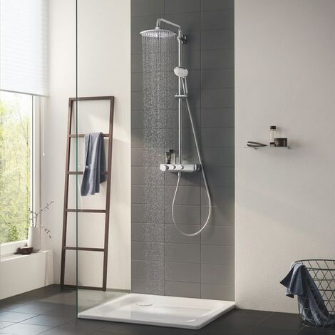 Grohe Euphoria SmartControl System 260 Mono, shower system with thermostatic mixer, wall mounted, chrome - 26509000