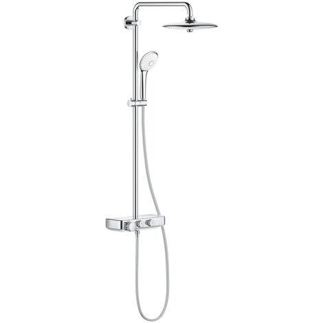 Grohe Euphoria SmartControl System 260 Mono, sistema de ducha con mezclador termostático, montado en la pared, cromado - 26509000