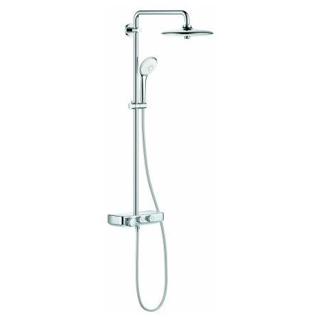 Grohe Euphoria SmartControl System 260 Mono, système de douche avec mitigeur thermostatique, montage mural, chromé - 26509000