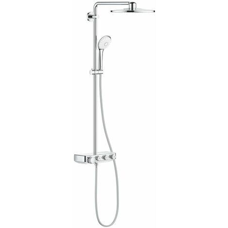 Grohe Euphoria SmartControl System 310 Duo, système de douche avec mitigeur thermostatique, mural, chromé, Coloris: acier super - 26507DC0