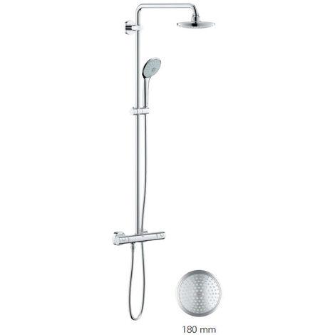 Grohe Euphoria System 180 Colonne de douche avec mitigeur thermostatique + Nettoyant GrohClean Offert (27296001)