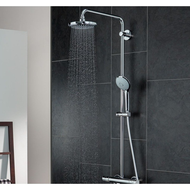 euphoria 180 shower system grohe 27473000 home kitchen. Black Bedroom Furniture Sets. Home Design Ideas