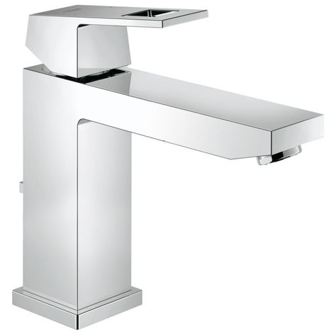 Grohe EUROCUBE Basin Mixer Tap, 1/2 Inch M-Size, with Pop Up Waste, Chrome